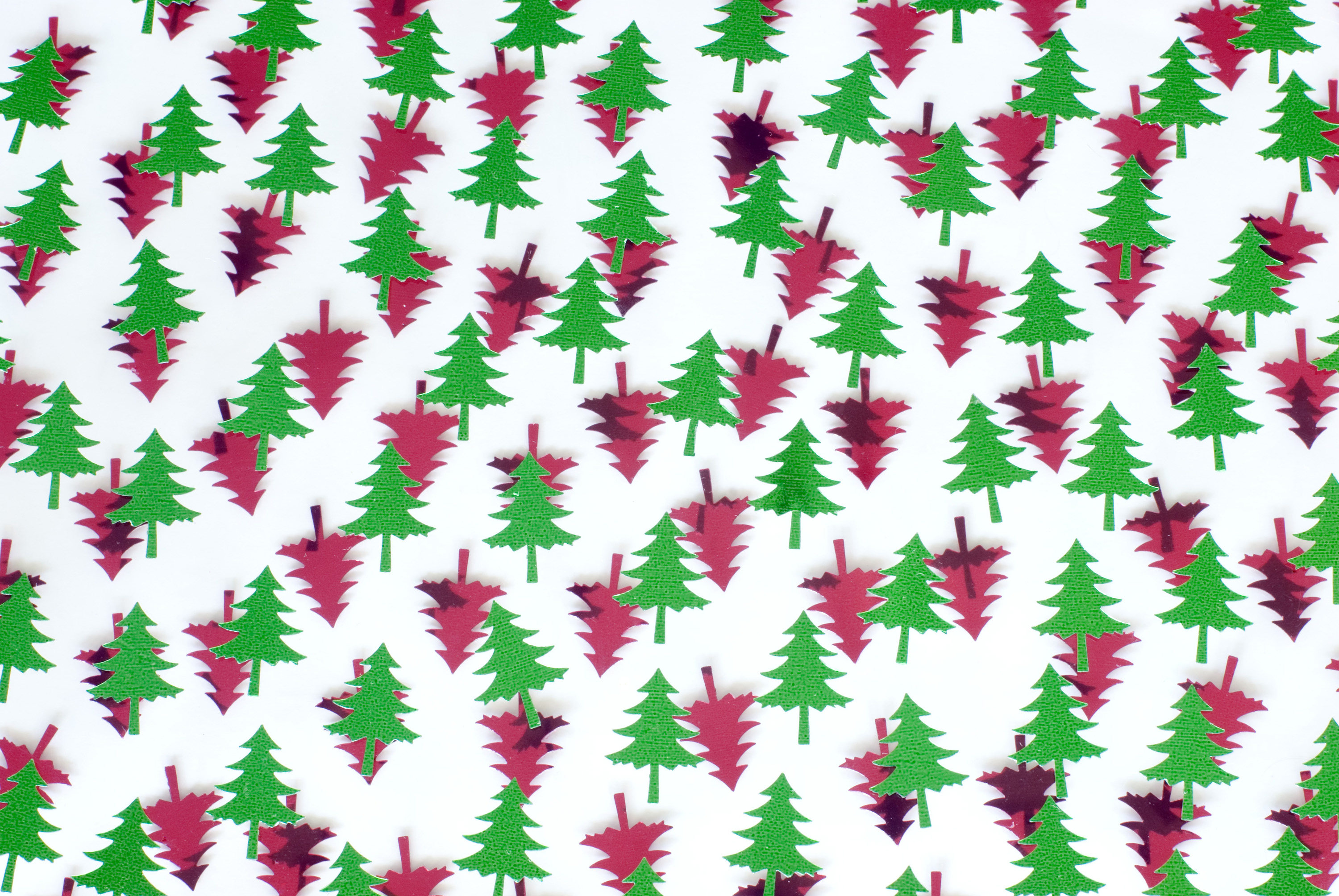 Photo Of Red And Green Tree Shapes Free Christmas Images
