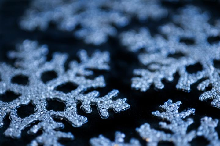 Photo Of Blue Snowflake Decorations Free Christmas Images