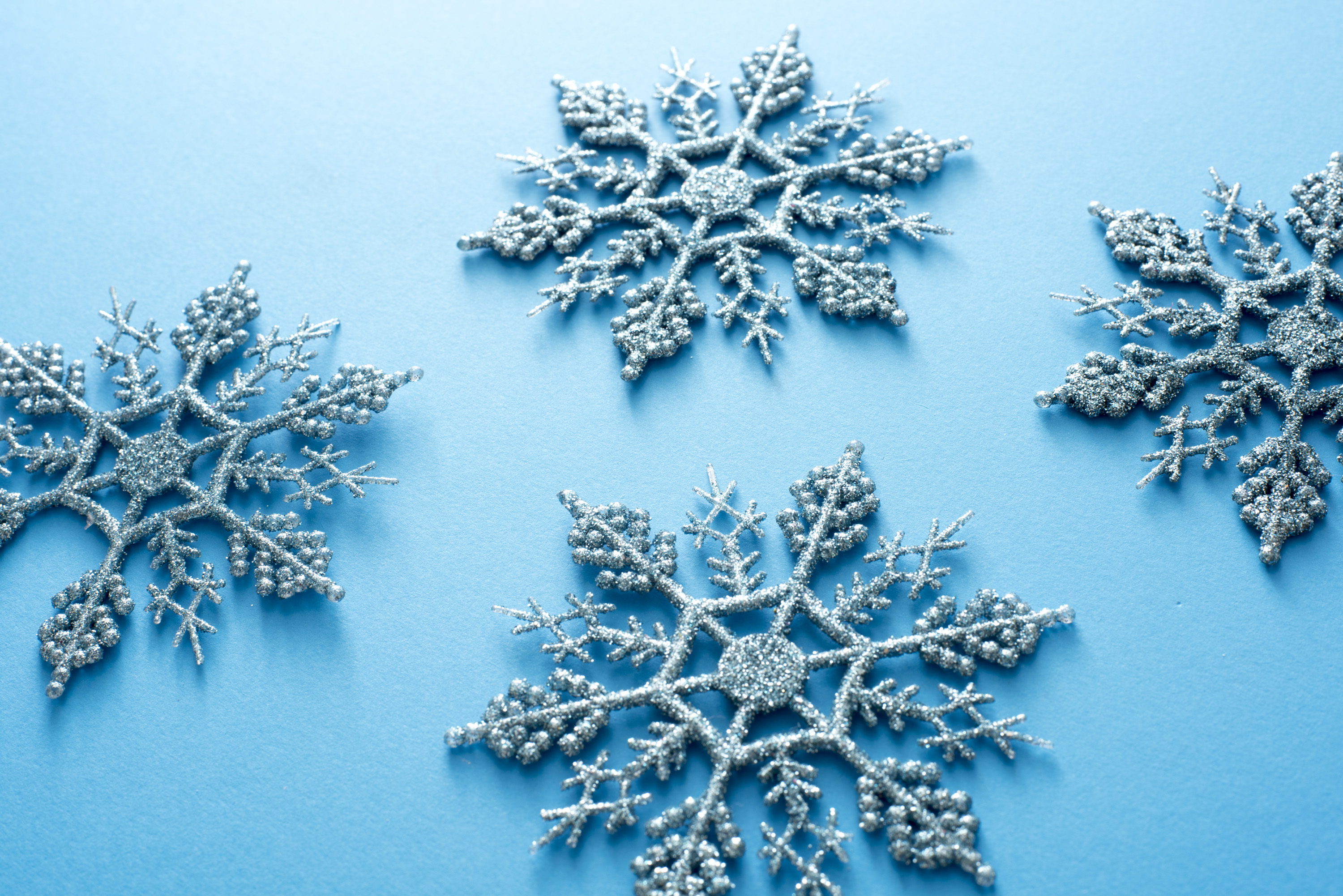 Photo Of Ornamental Blue Christmas Snowflakes Free
