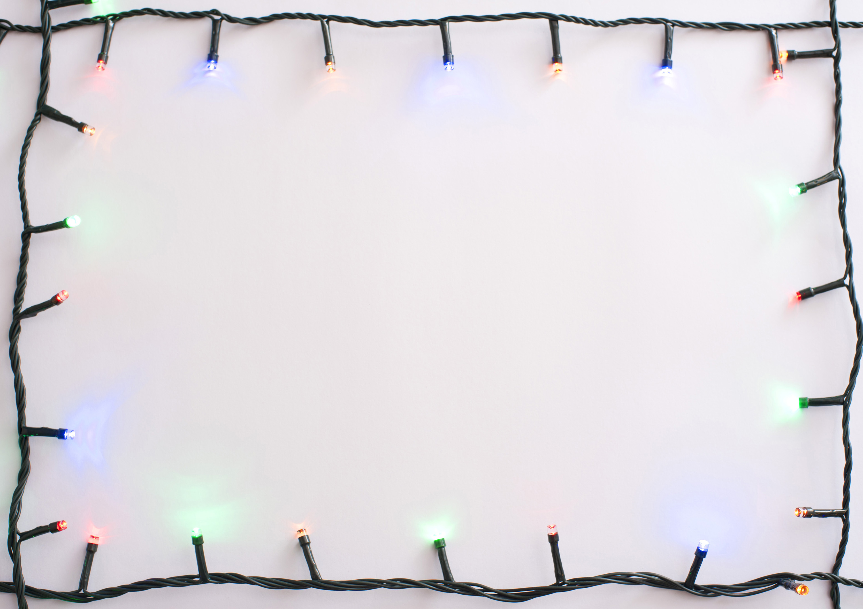 Photo Of Bright Garland With Copy Space Free Christmas
