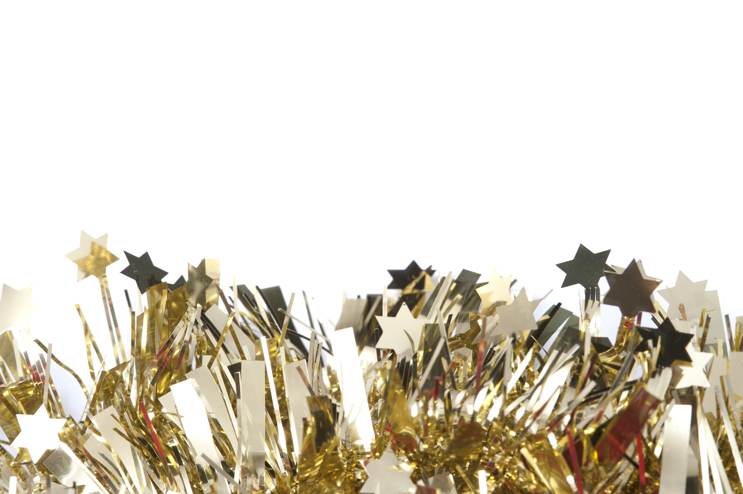 Photo of Glittering gold tinsel border | Free christmas images