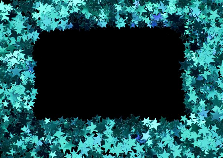 photo of blue star frame