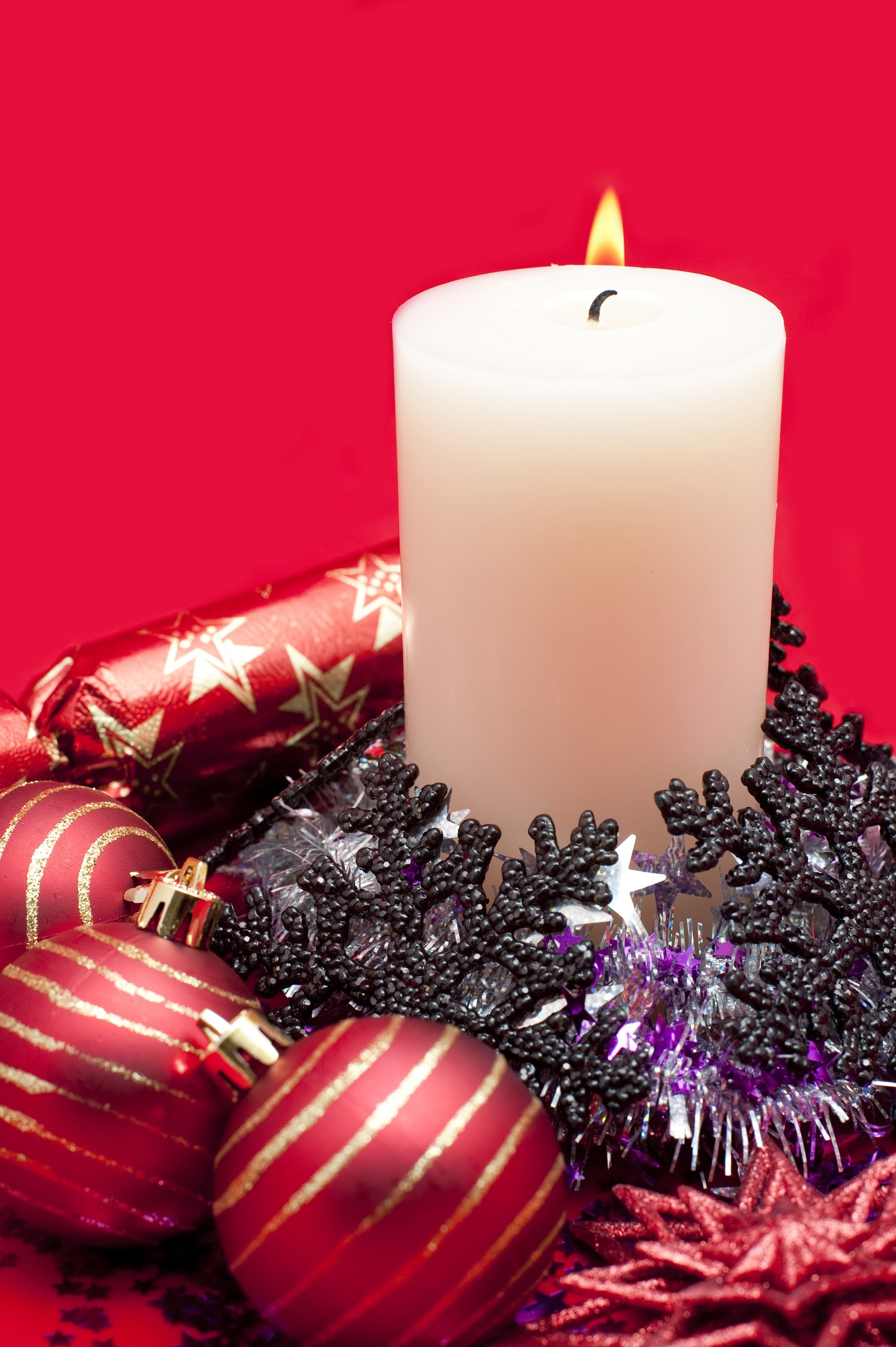 Photo Of Festive Candle Still Life Free Christmas Images