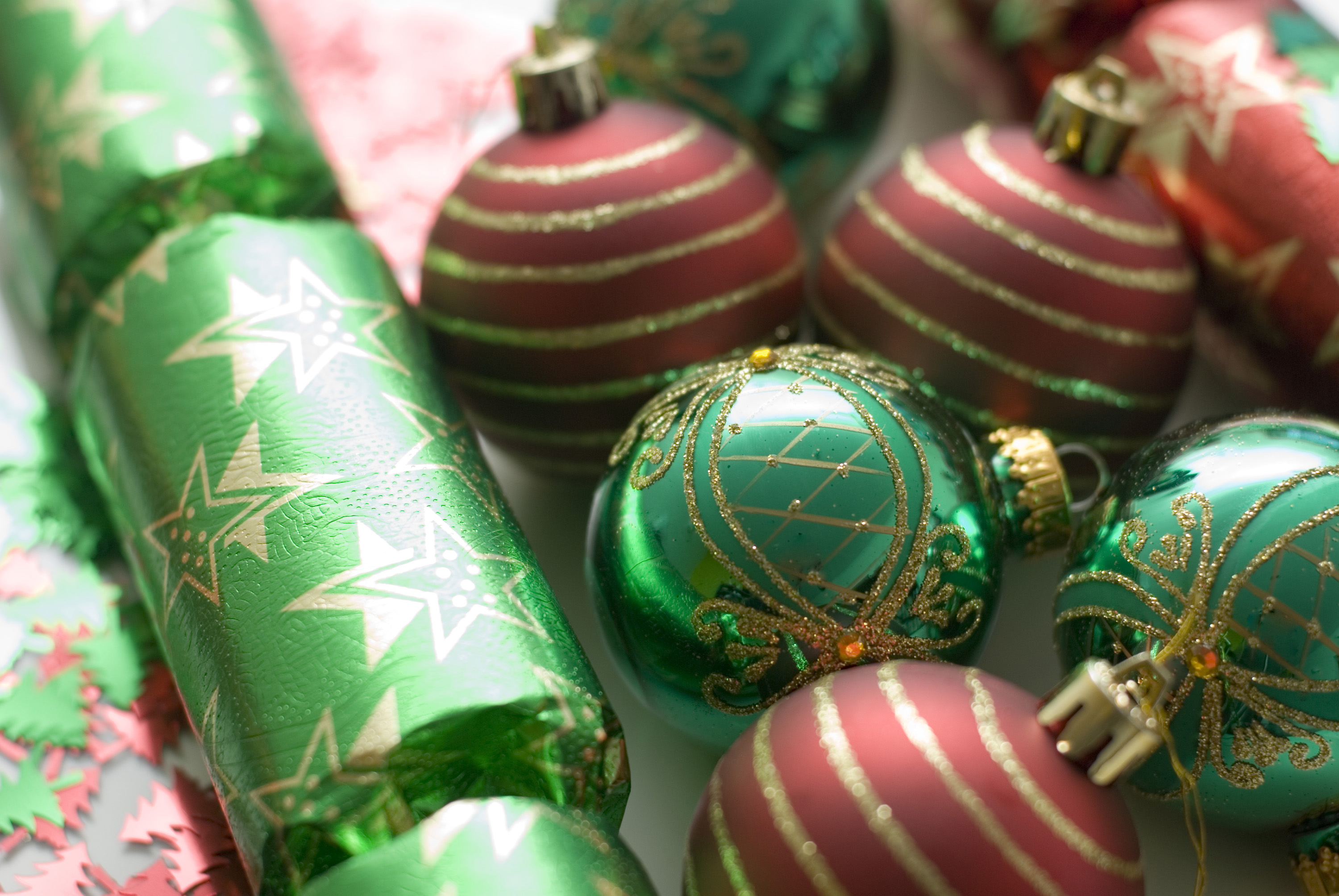 Photo Of Christmas Crackers And Baubles Free Christmas