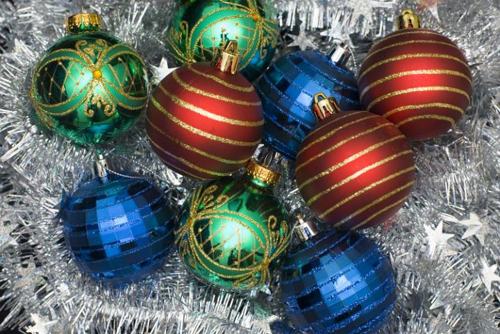 Christmas Blue Decorations