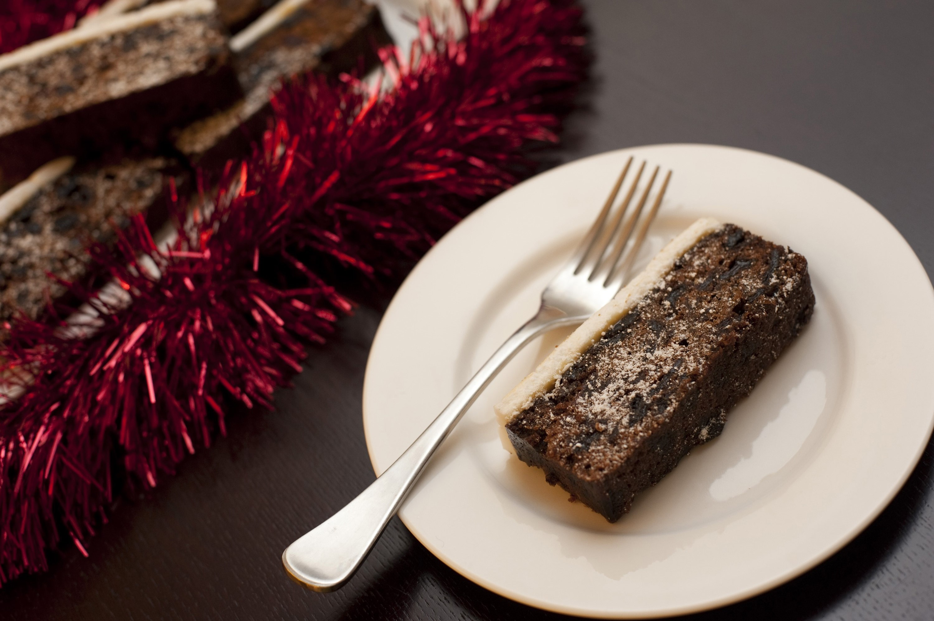 Photo Of Slice Of Christmas Fruit Cake Free Christmas Images