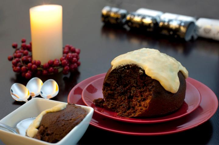 Photo Of Delicious Fruity Christmas Pudding Free