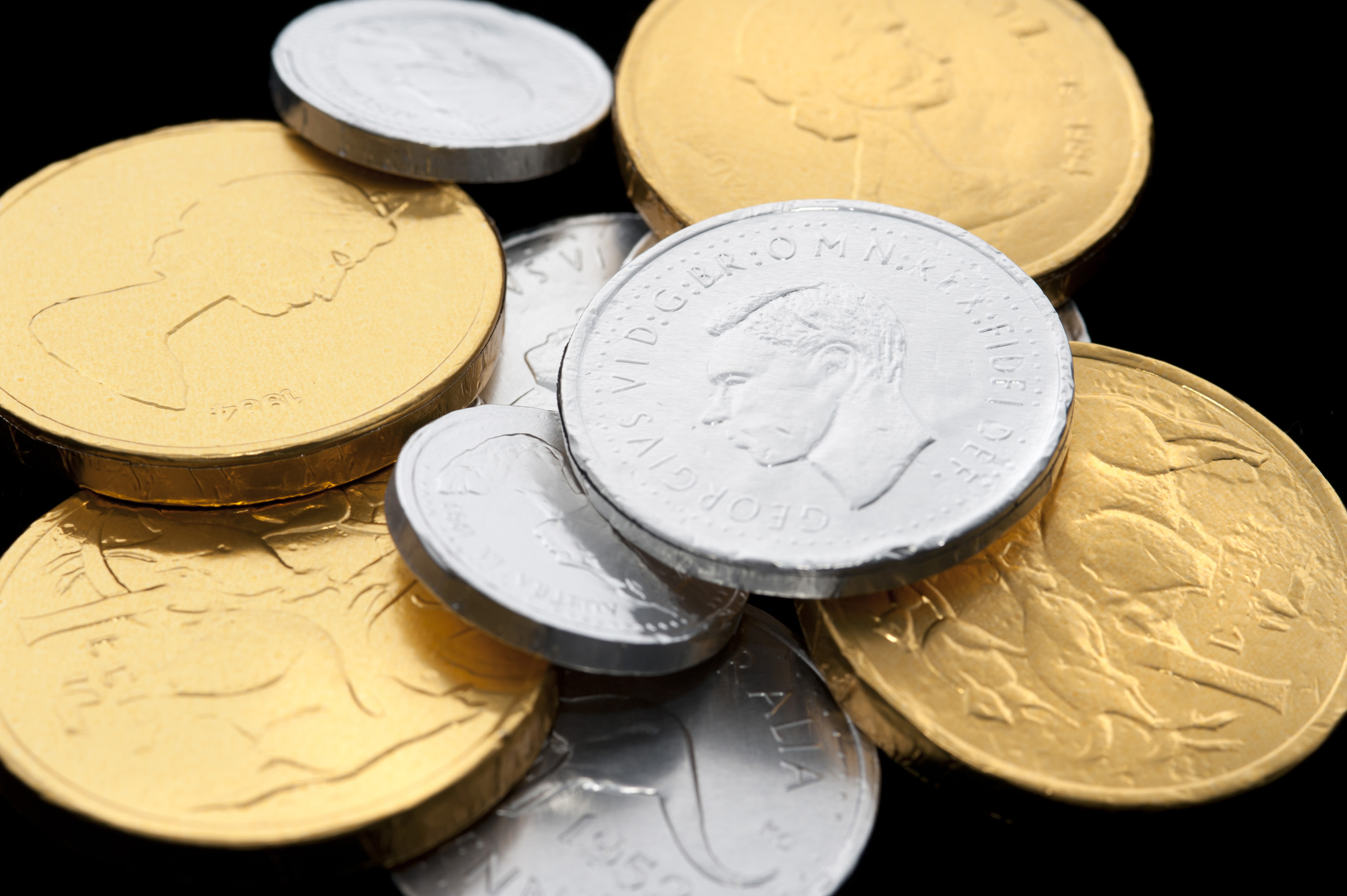 Photo of Stacks of chocolate coins | Free christmas images