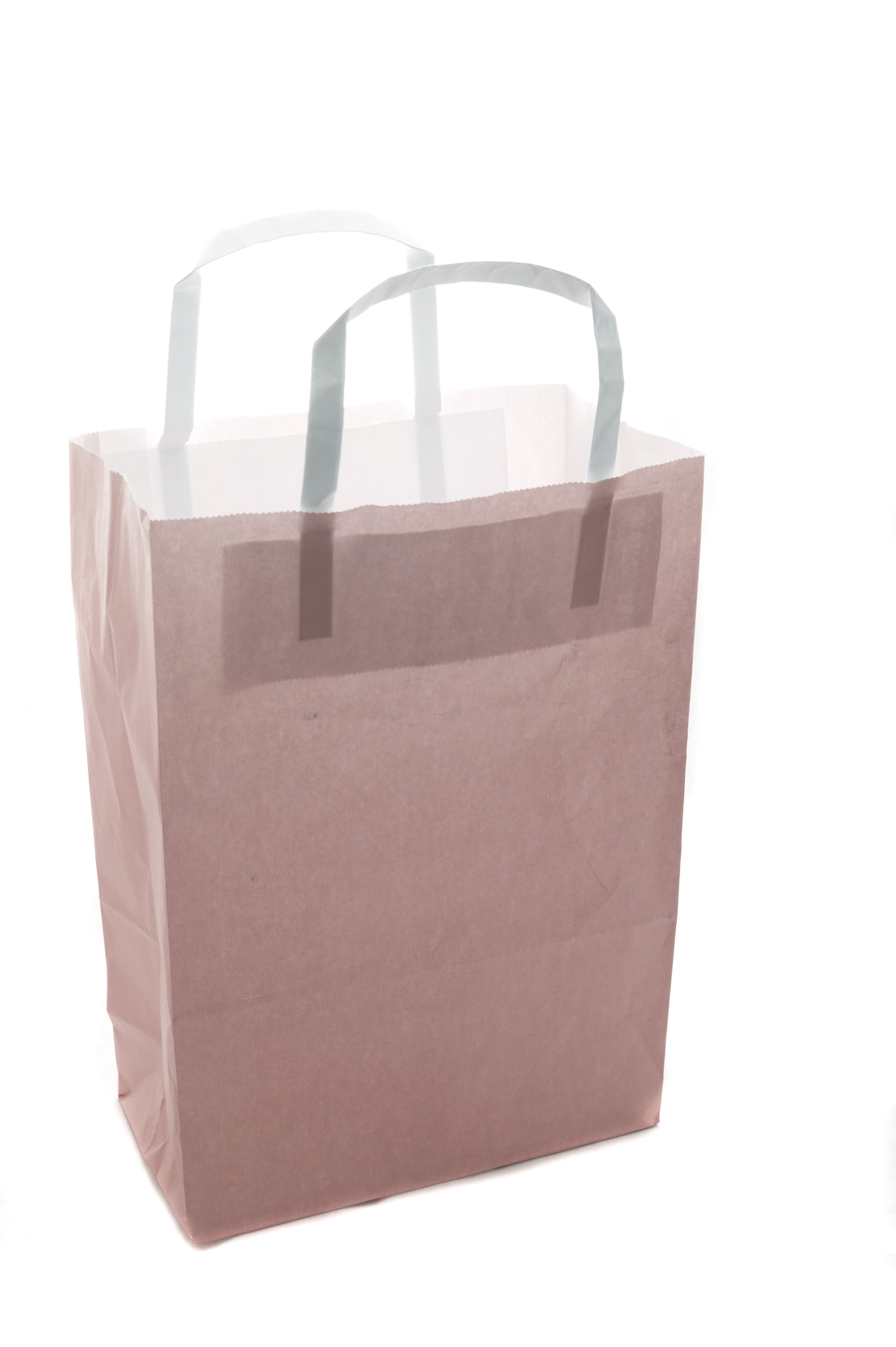 Photo Of Plain Brown Paper Carrier Bag Isolated On White
