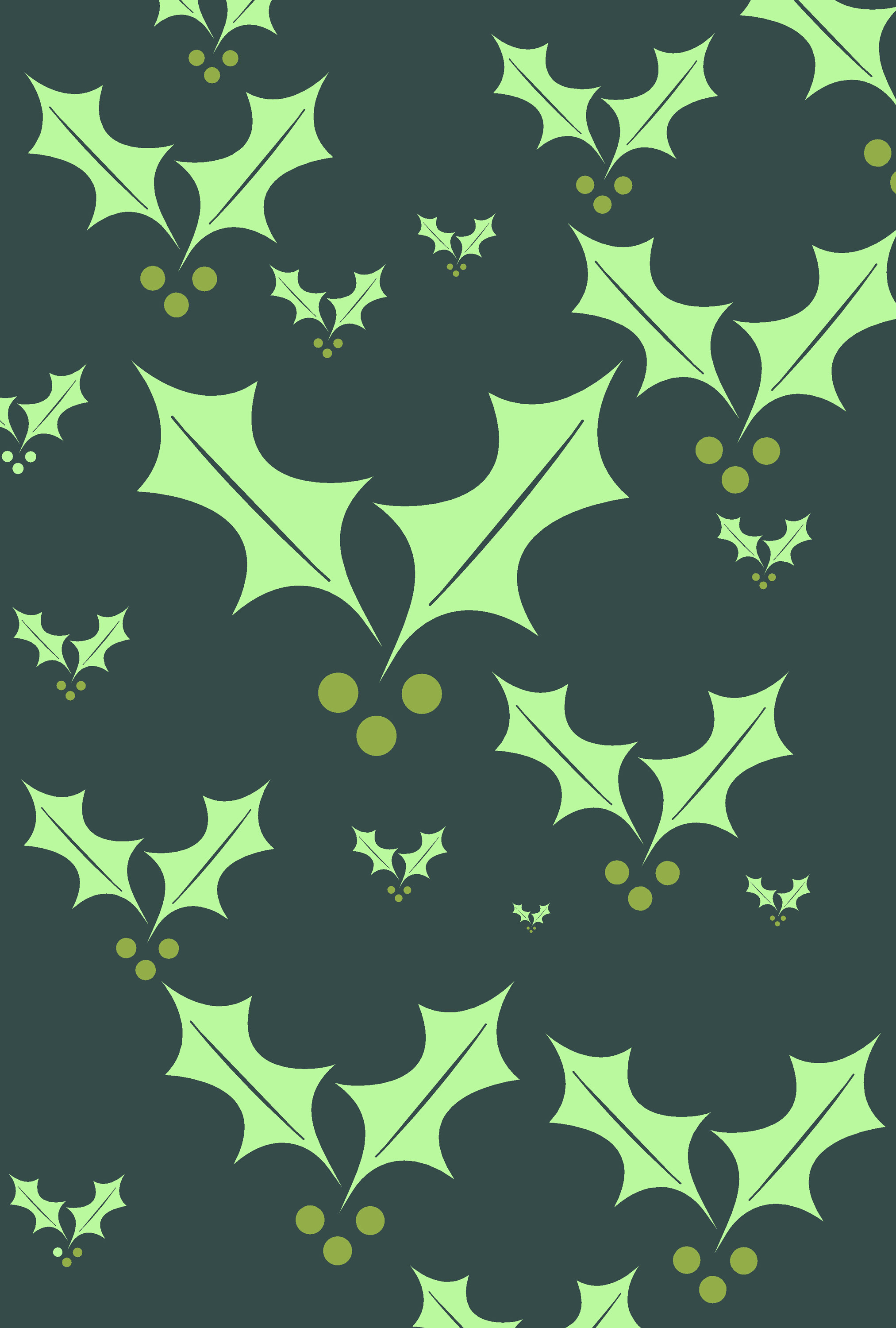 photo of holly background green