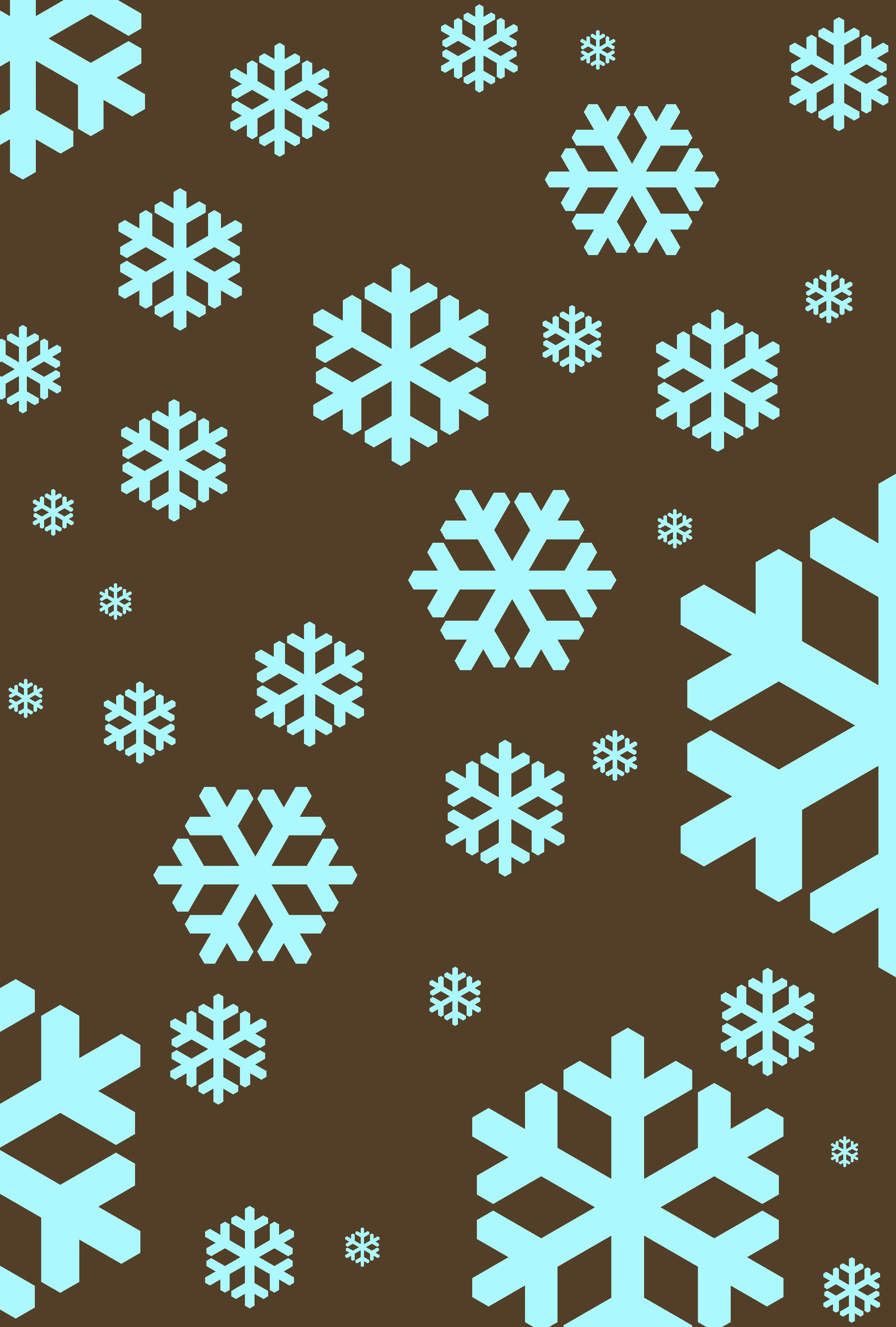 Photo of graphic snowflakes cyan free christmas images