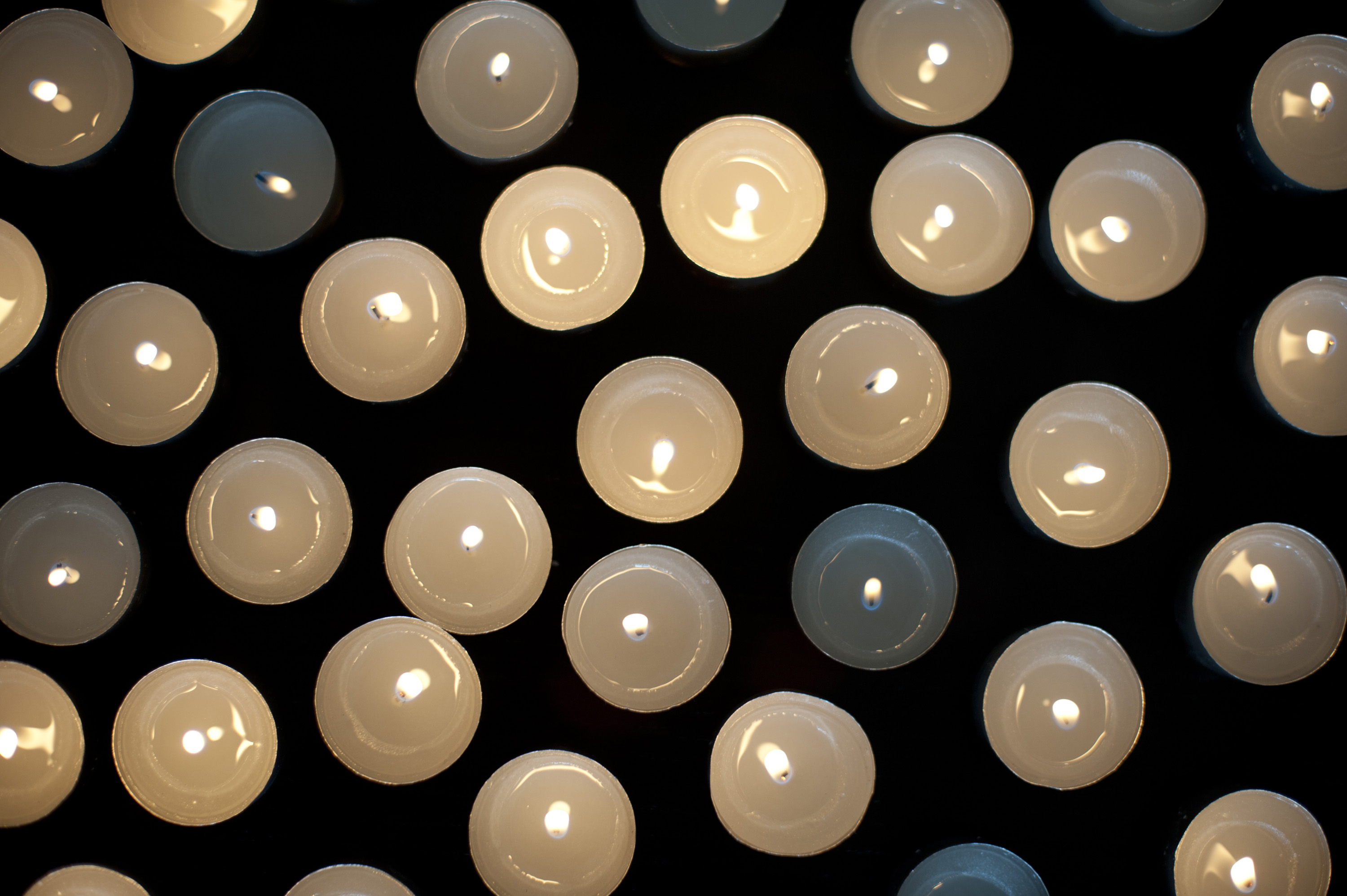 Photo Of Burning Candles From Above Free Christmas Images